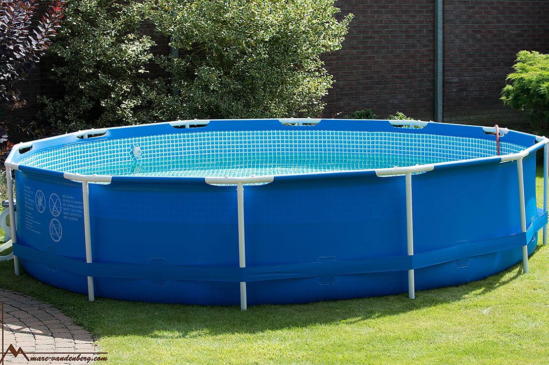 Lekker zo'n prive zwembad